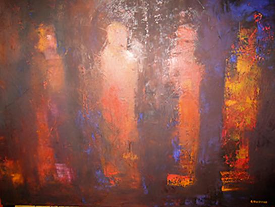 Veiled Alcestis 2 - Oil on canvas 50x65cm