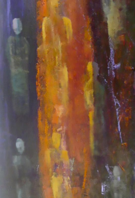 Eurydice's ghost - Oil on canvas 100x50cm