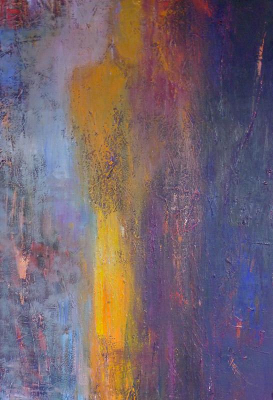 Kore (Hera) - Oil on canvas 80x40cm