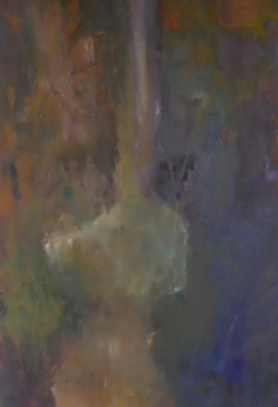 Cycladic Guitar Man 1 - Oil on canvas 80x40cm