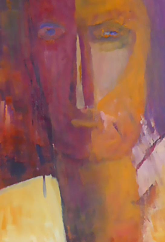 Cycladic Head - Oil on canvas 60x30cm