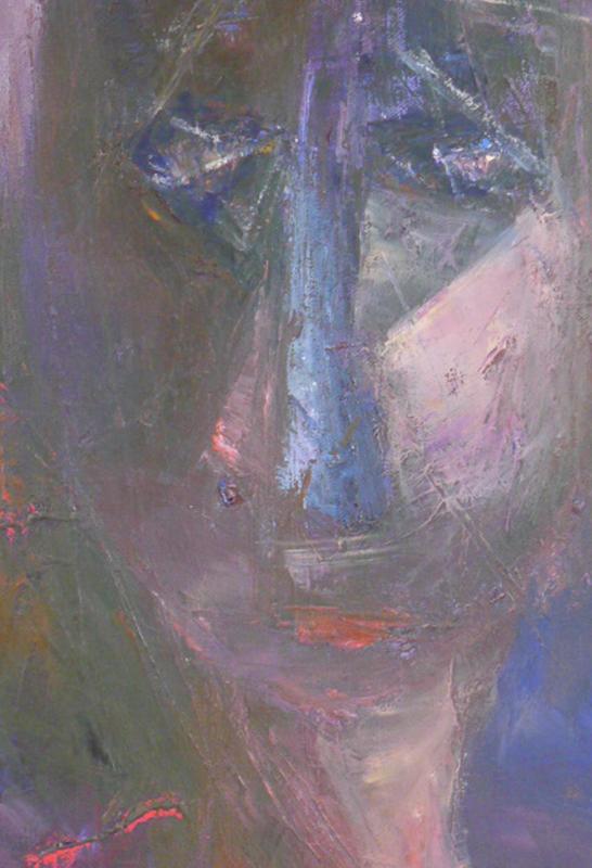 Sunt lacrimae rerum - Oil on canvas 60x30cm