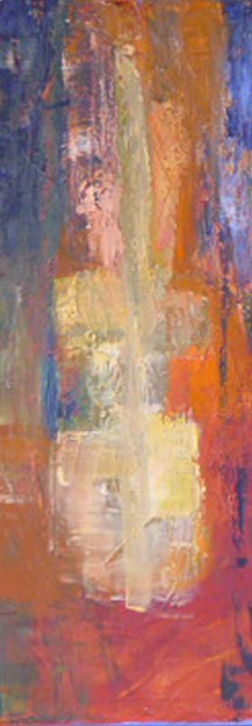 Cycladic Guitar Man 2 - Oil on canvas 80x20cm