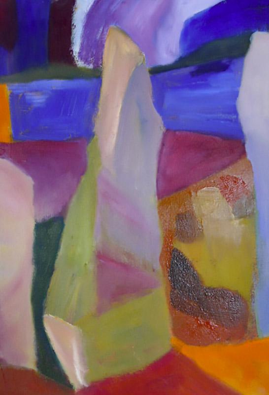 Kilmartin composition - Oil on canvas 30x24cm