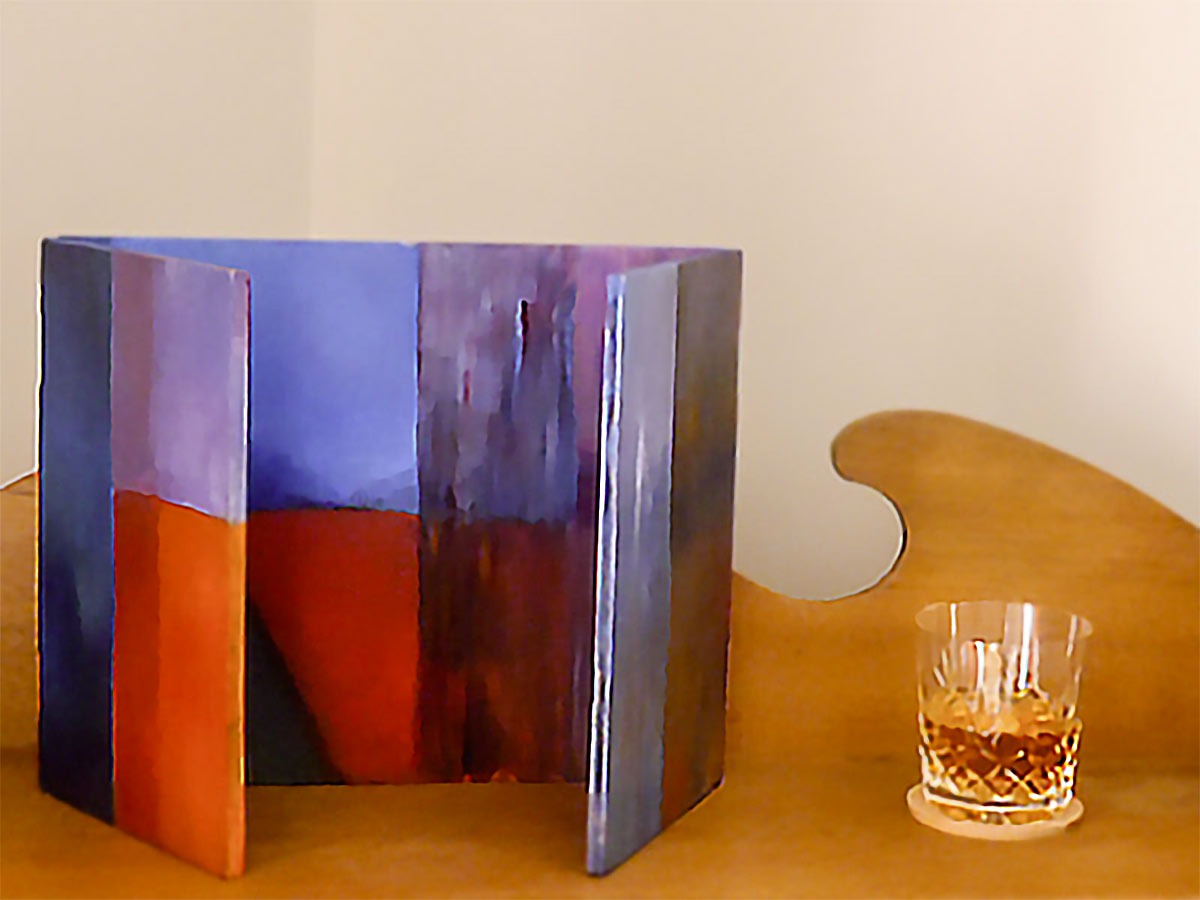 Red Sands - Oil on wood 25x30 cm (shut) | 25x60cm (open)