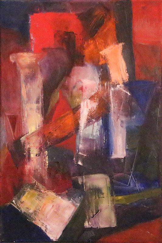 Quo Vadis (small) - Oil on canvas 40x60cm