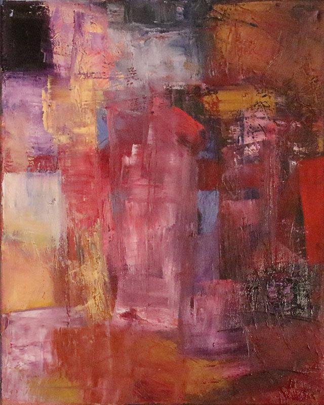 Dawn in Palmyra - Oil on canvas 40x50cm