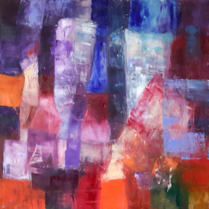 Sic Transit... - Oil on canvas 90x90cm