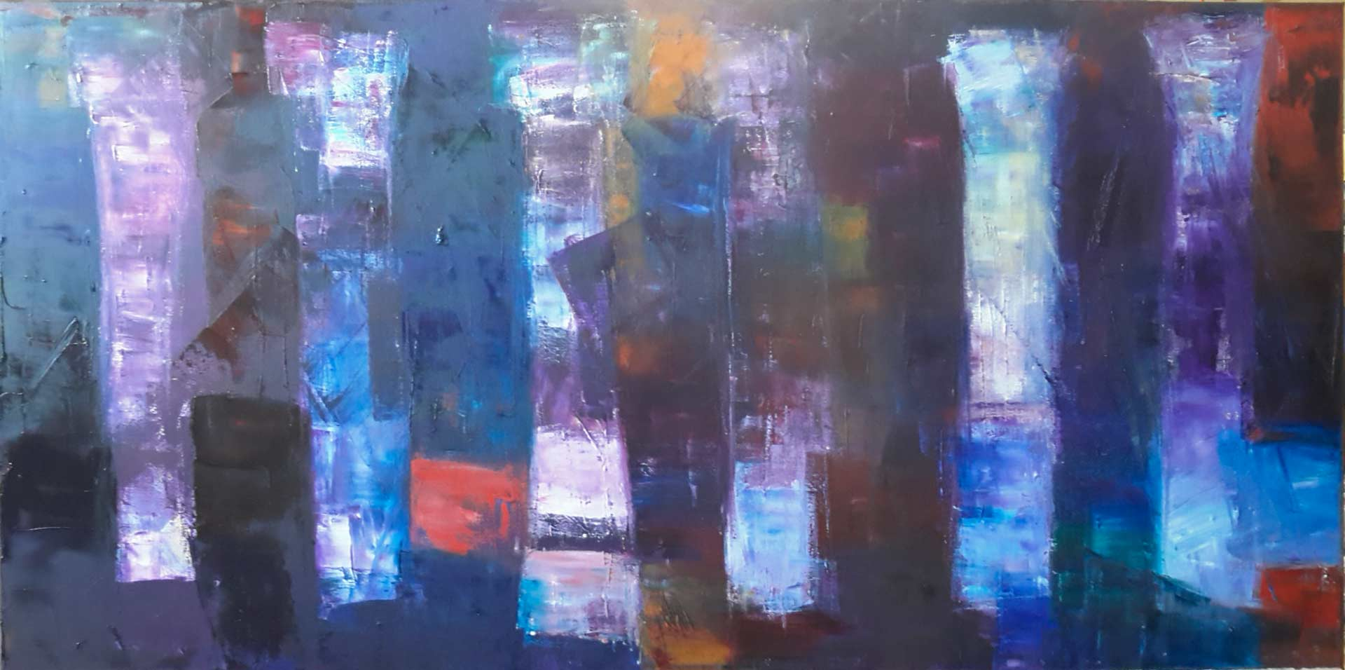 The Great Colonnade - Oil on canvas 120x60 cm
