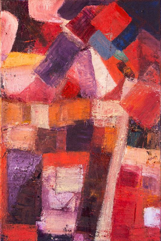 Building Bricks - Oil on canvas 60x40cm