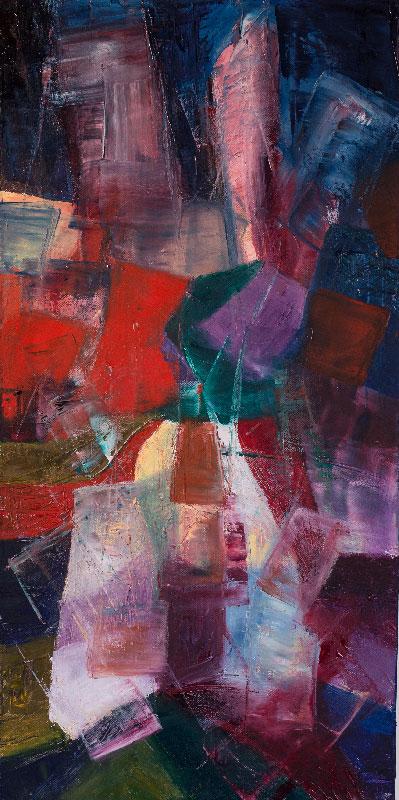 Shards - Oil on canvas 80x40cm