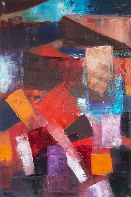 The Clashing Rocks - Oil on canvas 60x40cm
