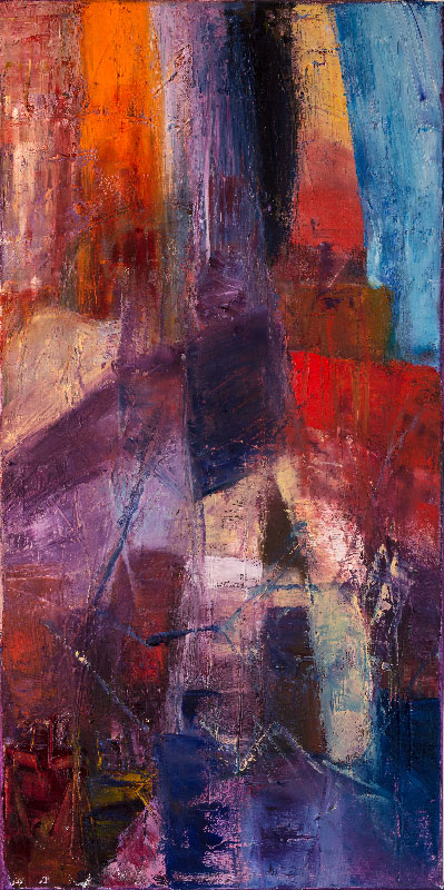 Topless Towers - Oil on canvas 80x40cm