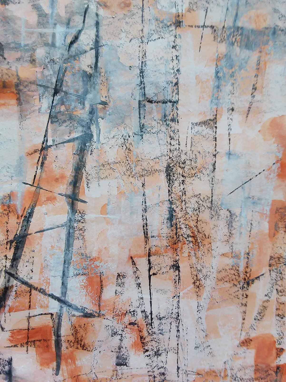 Small abstract. Mixed media